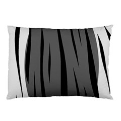 Gray, black and white design Pillow Case