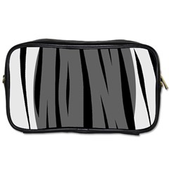 Gray, black and white design Toiletries Bags