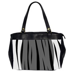 Gray, black and white design Office Handbags (2 Sides)