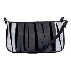 Gray, black and white design Shoulder Clutch Bags