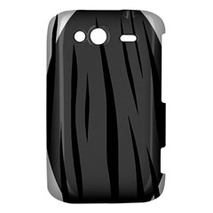 Gray, black and white design HTC Wildfire S A510e Hardshell Case