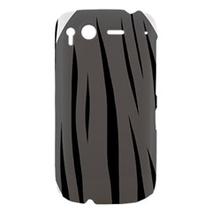 Gray, black and white design HTC Desire S Hardshell Case