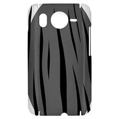 Gray, black and white design HTC Desire HD Hardshell Case