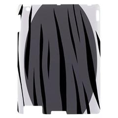 Gray, black and white design Apple iPad 2 Hardshell Case