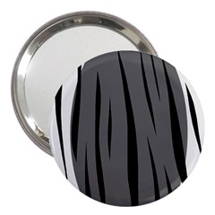 Gray, black and white design 3  Handbag Mirrors