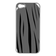 Gray, black and white design Apple iPhone 5 Case (Silver)