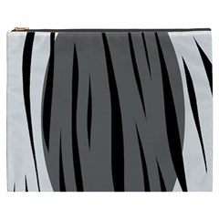 Gray, black and white design Cosmetic Bag (XXXL)