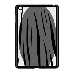 Gray, black and white design Apple iPad Mini Case (Black)