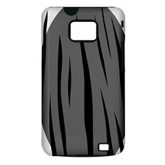 Gray, black and white design Samsung Galaxy S II i9100 Hardshell Case (PC+Silicone)