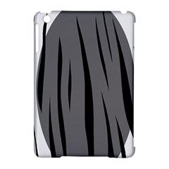 Gray, black and white design Apple iPad Mini Hardshell Case (Compatible with Smart Cover)