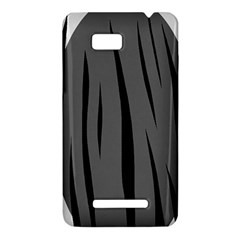 Gray, black and white design HTC One SU T528W Hardshell Case
