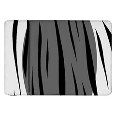 Gray, black and white design Samsung Galaxy Tab 8.9  P7300 Flip Case