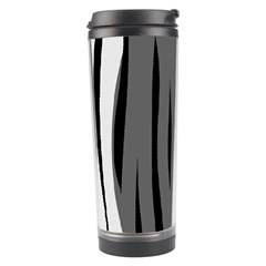 Gray, black and white design Travel Tumbler