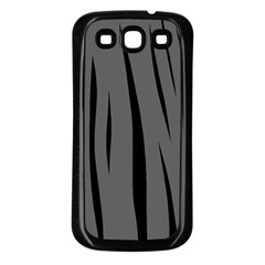 Gray, black and white design Samsung Galaxy S3 Back Case (Black)