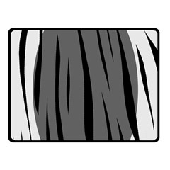 Gray, black and white design Double Sided Fleece Blanket (Small)