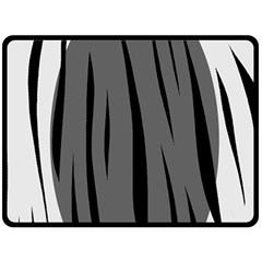 Gray, black and white design Double Sided Fleece Blanket (Large)