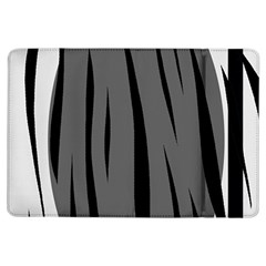Gray, black and white design iPad Air Flip