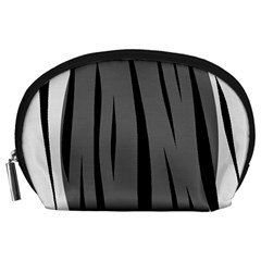 Gray, black and white design Accessory Pouches (Large)
