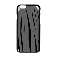 Gray, black and white design Apple iPhone 6/6S Black Enamel Case