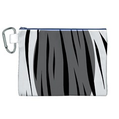 Gray, black and white design Canvas Cosmetic Bag (XL)