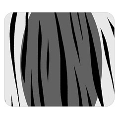 Gray, black and white design Double Sided Flano Blanket (Small)