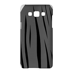 Gray, black and white design Samsung Galaxy A5 Hardshell Case