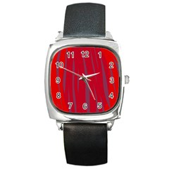 Hot lava Square Metal Watch