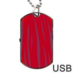 Hot lava Dog Tag USB Flash (One Side)