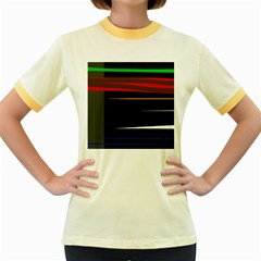 Colorful lines  Women s Fitted Ringer T-Shirts