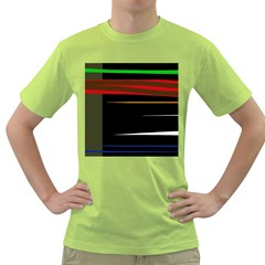 Colorful lines  Green T-Shirt