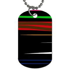 Colorful lines  Dog Tag (One Side)