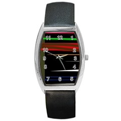 Colorful lines  Barrel Style Metal Watch