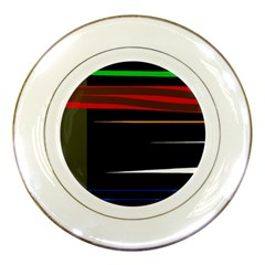 Colorful lines  Porcelain Plates
