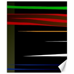 Colorful lines  Canvas 8  x 10