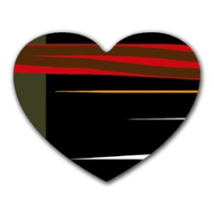 Colorful lines  Heart Mousepads