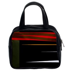 Colorful lines  Classic Handbags (2 Sides)
