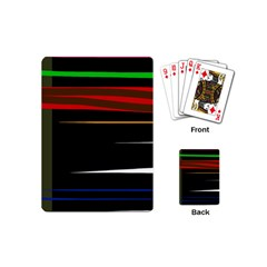 Colorful lines  Playing Cards (Mini)