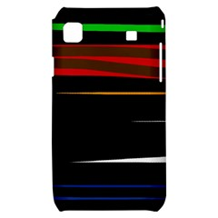 Colorful lines  Samsung Galaxy S i9000 Hardshell Case
