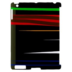 Colorful lines  Apple iPad 2 Hardshell Case (Compatible with Smart Cover)