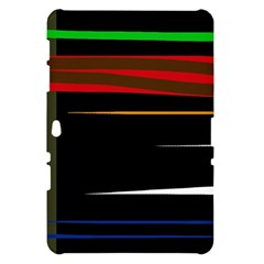 Colorful lines  Samsung Galaxy Tab 10.1  P7500 Hardshell Case
