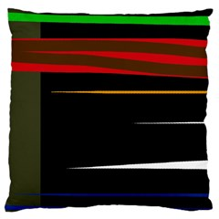 Colorful lines  Large Cushion Case (One Side)