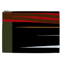 Colorful lines  Cosmetic Bag (XXL)