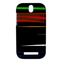 Colorful lines  HTC One SV Hardshell Case