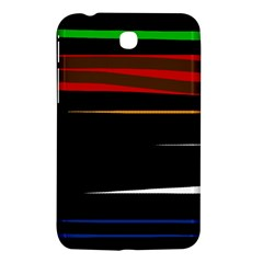 Colorful lines  Samsung Galaxy Tab 3 (7 ) P3200 Hardshell Case