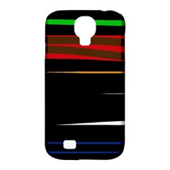Colorful lines  Samsung Galaxy S4 Classic Hardshell Case (PC+Silicone)