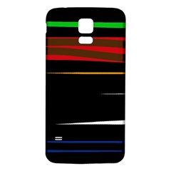 Colorful lines  Samsung Galaxy S5 Back Case (White)
