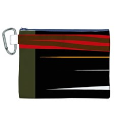 Colorful lines  Canvas Cosmetic Bag (XL)