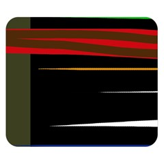 Colorful lines  Double Sided Flano Blanket (Small)