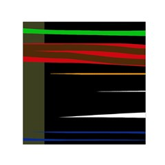 Colorful lines  Small Satin Scarf (Square)