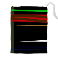 Colorful lines  Drawstring Pouches (XXL)